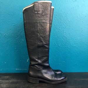 Enzo Angiolini black leather over knee high boot 8